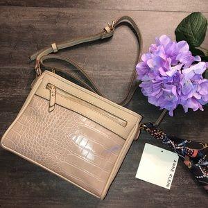 Anne Klein Pocket Crossbody Bag w/Scarf NWT